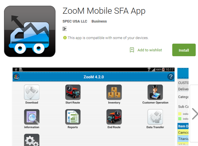 ZooM Mobile Sales Force Automation App on Google Play Store