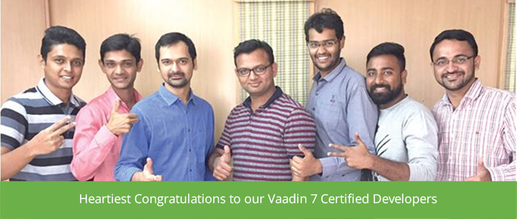 Heartiest Congratulations to our Vaadin 7 Certified Developers