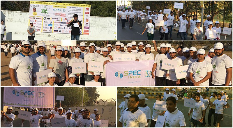 SPEC INDIA, Zealously, Joins Hands for a Human Cause @ Motif Charity Walk 2017