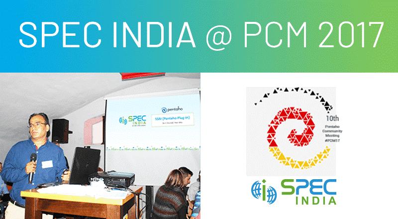 SPEC INDIA at PMC 2017