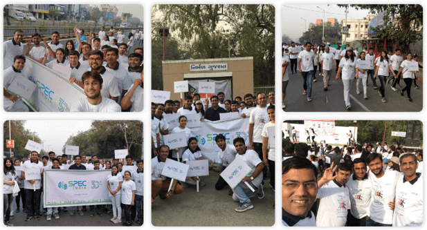 SPEC INDIA @ Motif Charity Walk 2018 – An Enjoyable Event for a Noble Cause