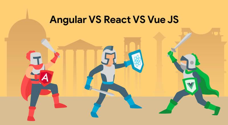 React vs Angular vs Vue JS Detailed Comparison