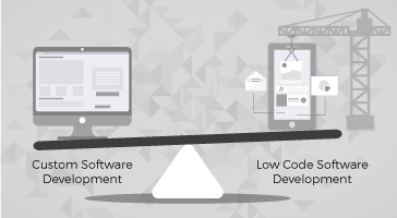 Low Code vs Custom Software Development - Feature Image