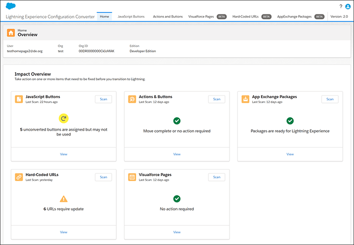 Manage All Lightning Experience Configuration Converter Tabs