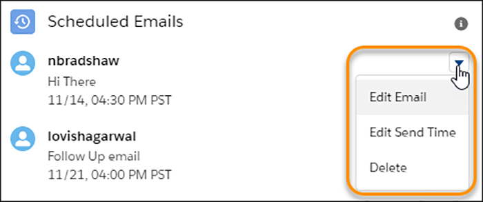 Schedule and Manage Scheduled Emails