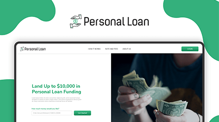 Web Design For Online Personal Loan Platform