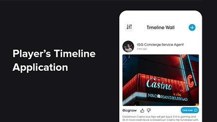 Player's Timeline – Casino Mobile App